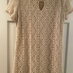 Short sleeve Lacey lined dress